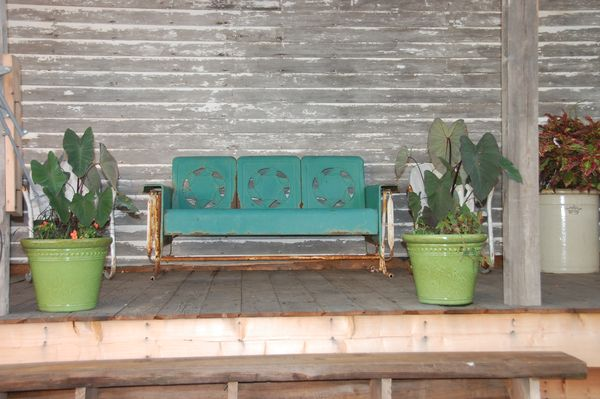 Our Life On The Hill My Vintage Metal Gliders Chairs And